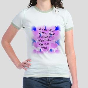 I LOVE U I MISS U Jr. Ringer T-Shirt