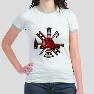 Jr. Ringer T-Shirt Firefighter Graphic Symbols