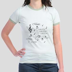 Music is Me Jr. Ringer T-Shirt