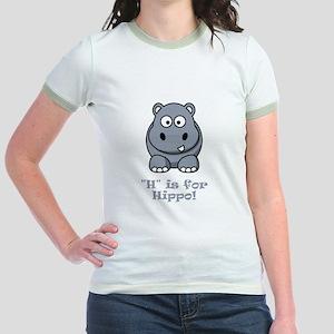 H is for Hippo! Jr. Ringer T-Shirt