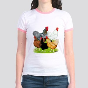 Sex-link Chicken Quintet Jr. Ringer T-Shirt