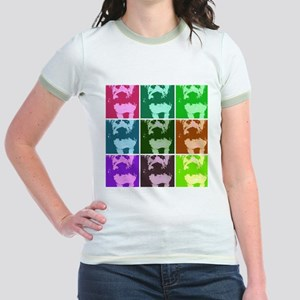 Wheaton Terrier Pop Art Jr. Ringer T-Shirt