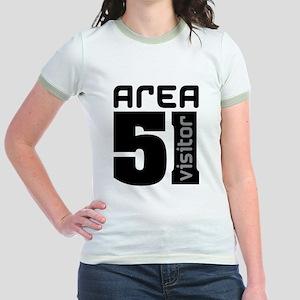 Area 51 Alien Visitor Jr. Ringer T-Shirt