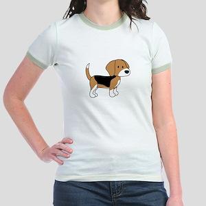Cute Beagle Jr. Ringer T-Shirt