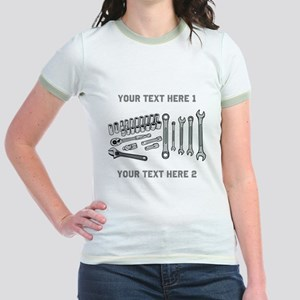 Wrenches with Text. Jr. Ringer T-Shirt