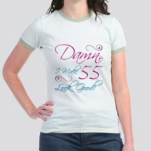 55th Birthday Humor Jr. Ringer T-Shirt