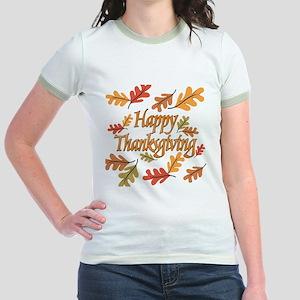 Happy Thanksgiving Jr. Ringer T-Shirt