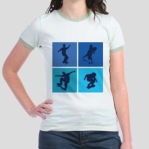 Nice various skating Jr. Ringer T-Shirt