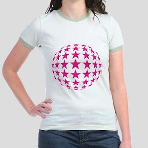 Stars Mirror Ball Jr. Ringer T-Shirt