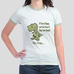 Happy TRex Jr. Ringer T-Shirt