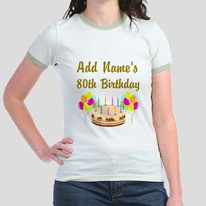 HAPPY 80TH BIRTHDAY Jr. Ringer T-Shirt