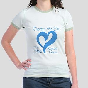Personalize Prostate Cancer Jr. Ringer T-Shirt