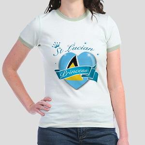 St Lucian Princess Jr. Ringer T-Shirt