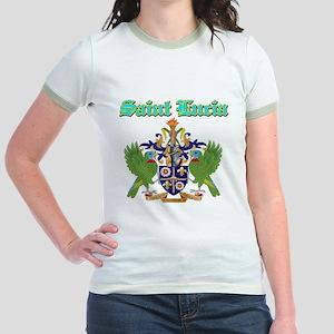 Saint Lucia designs Jr. Ringer T-Shirt