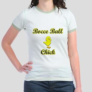 Bocce Ball Chick Jr. Ringer T-Shirt