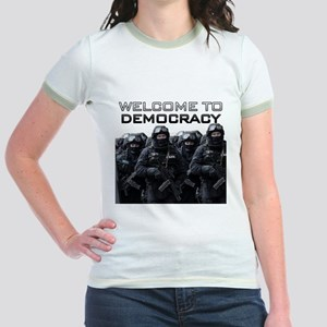 Welcome To Democracy Jr. Ringer T-Shirt