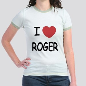 I heart ROGER Jr. Ringer T-Shirt