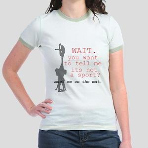 Meet Me on the Mat Jr. Ringer T-Shirt