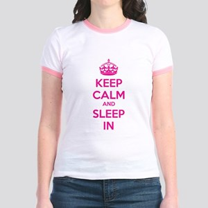 Keep calm and sleep in Jr. Ringer T-Shirt
