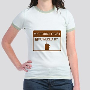 Microbiologist Powered by Coffee Jr. Ringer T-Shir