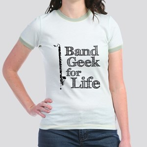 Bass Clarinet Band Geek Jr. Ringer T-Shirt