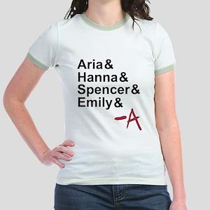 Aria & Hanna & Spencer & Emily & A Jr. Ringer T-Sh