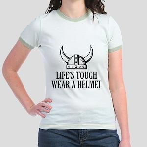 Wear A Helmet Jr. Ringer T-Shirt
