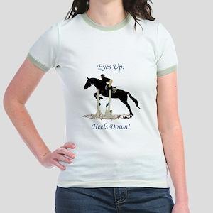 Eyes Up! Heels Down! Horse Jr. Ringer T-Shirt
