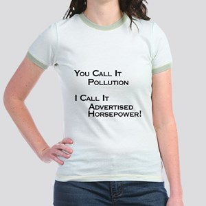 You Call it Pollution Jr. Ringer T-Shirt