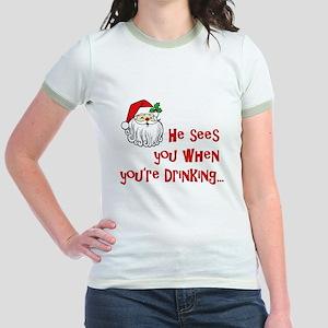 He Sees You Jr. Ringer T-Shirt