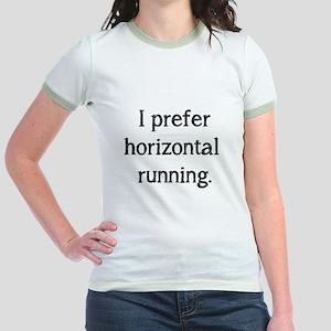 Horizontal Running Jr. Ringer T-Shirt