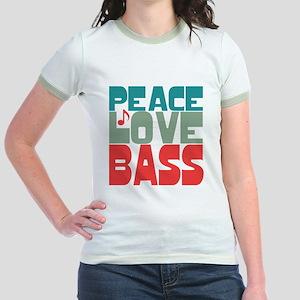 Peace Love Bass Jr. Ringer T-Shirt