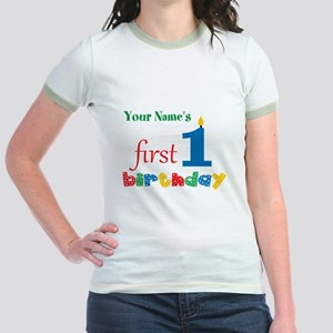 First Birthday - Personalized Jr. Ringer T-Shirt