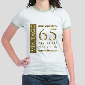 Fancy Vintage 65th Birthday Jr. Ringer T-Shirt