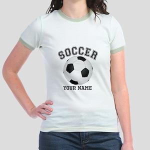 Personalized Name Soccer Jr. Ringer T-Shirt