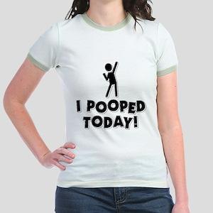 I Pooped Today! Jr. Ringer T-Shirt