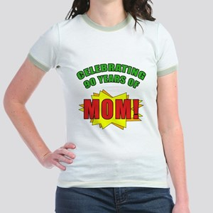 Celebrating Mom's 90th Birthday Jr. Ringer T-Shirt