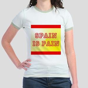 Spain Is Pain Jr. Ringer T-Shirt