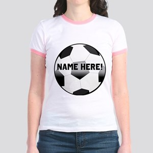 Personalized Name Soccer Ball Jr. Ringer T-Shirt