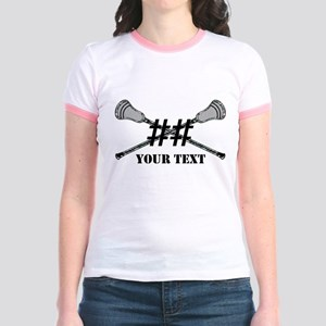 Lacrosse Camo Sticks Crossed Personalize T-Shirt