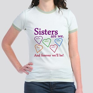 Sisters Are We Personalize Jr. Ringer T-Shirt