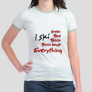 I Ski Jr. Ringer T-Shirt