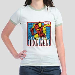 The Invincible Iron Man Jr. Ringer T-Shirt