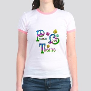 Peace Love Theatre Jr. Ringer T-Shirt