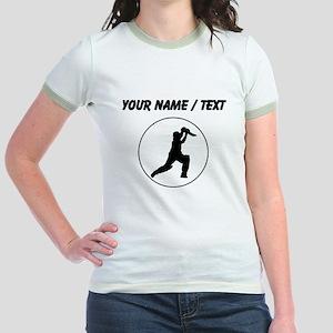 Custom Cricket Player Circle T-Shirt