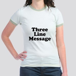 Big Three Line Message T-Shirt