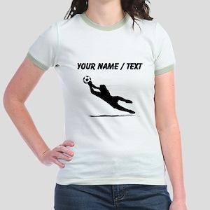 Custom Soccer Goalie Silhouette T-Shirt