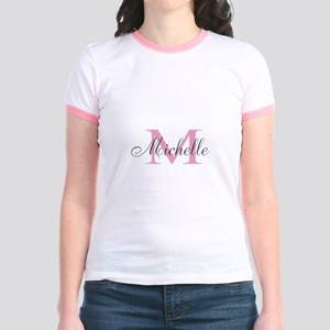Personalized Pink Name Monogram T-Shirt