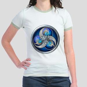 Blue Norse Triple Dragons Jr. Ringer T-Shirt