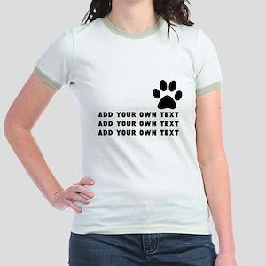 Dog's paw Jr. Ringer T-Shirt